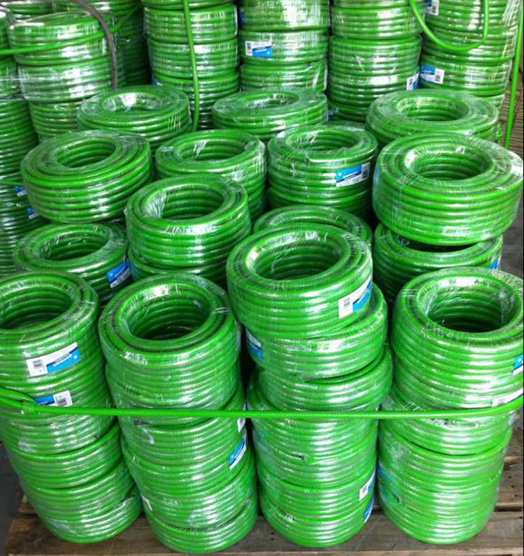 pvc knitted garden hose packaging