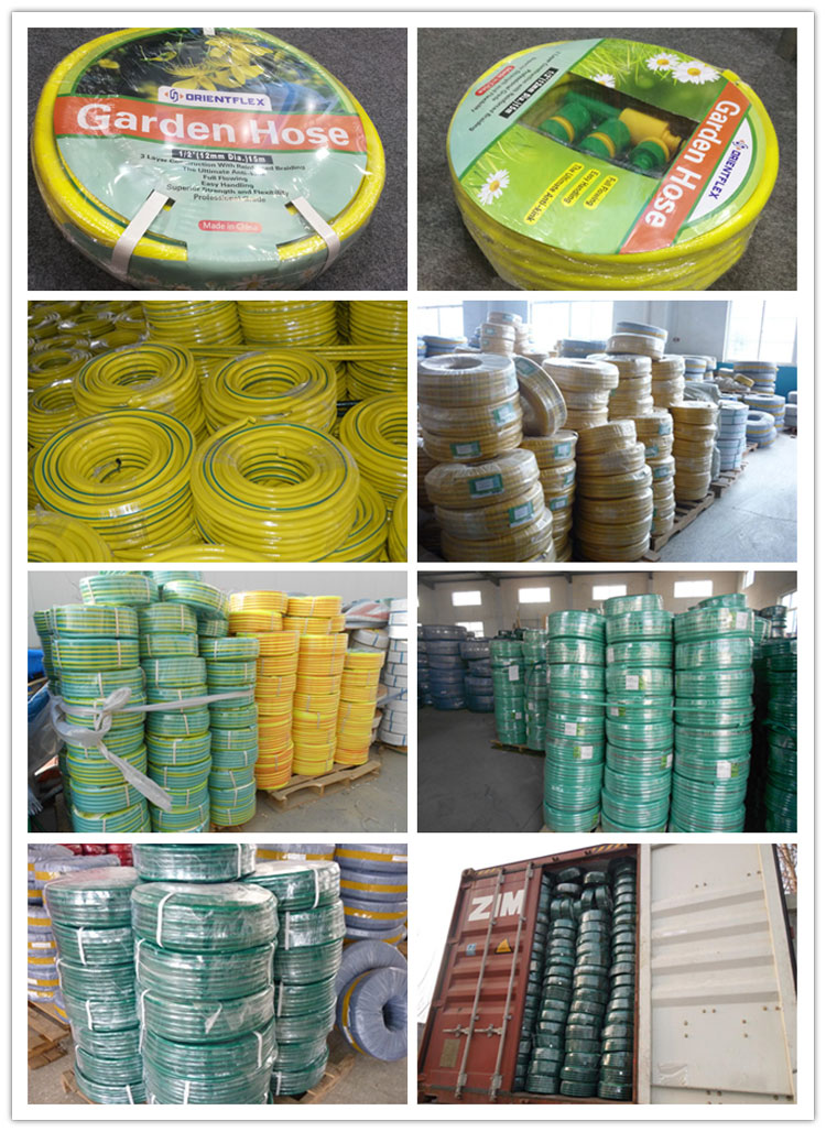 pvc garden water hose packaging
